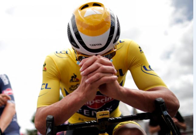 Mathieu Van der Poel es el líder del Tour de Francia.