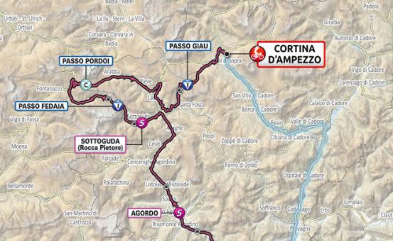 Así será la etapa 16 del Giro de Italia 2021.