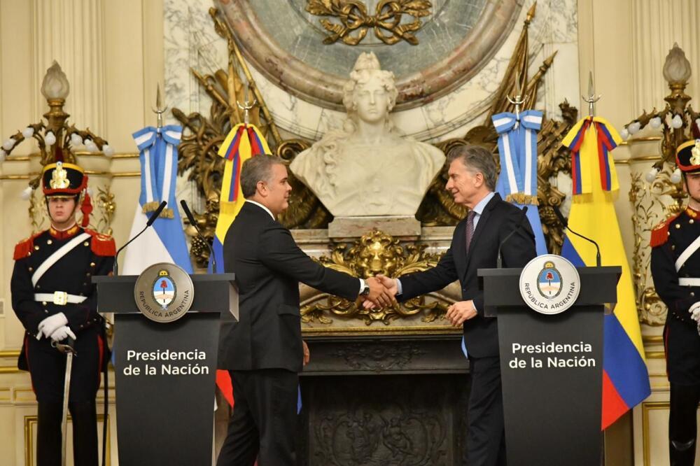 335972_Mauricio Macri e Iván Duque - Foto: Presidencia