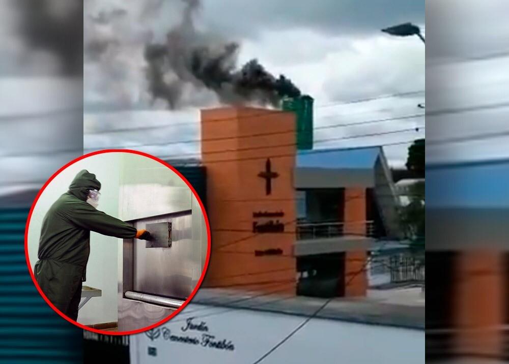 372066_Emisión de humo en crematorio de Fontibón // Fotos: AFP - Twitter @Johnedissonh