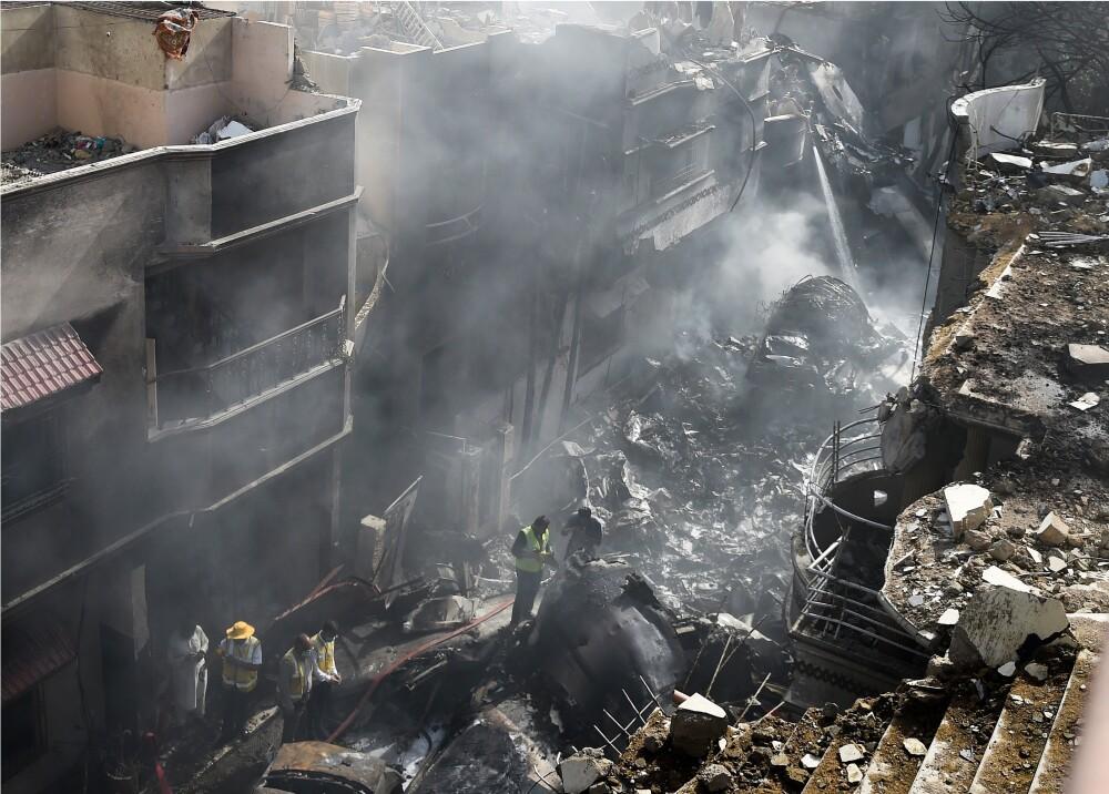 364750_Accidente de avión Airbus A-320 en Pakistán // Foto: AFP