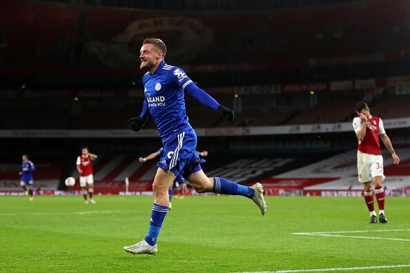 Jamie Vardy Arsenal v Leicester City