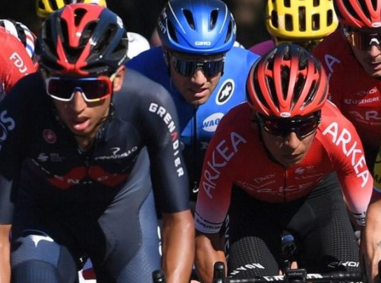 Egan Bernal y Nairo Quintana brillaron en el Trofeo Laigueglia. Foto: ASO. Por: Fernando Vesga.