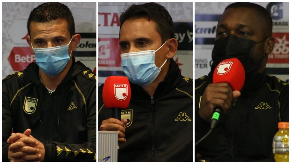 Francisco Delgado, Grigori Méndez y Léider Preciado, en Independiente Santa Fe