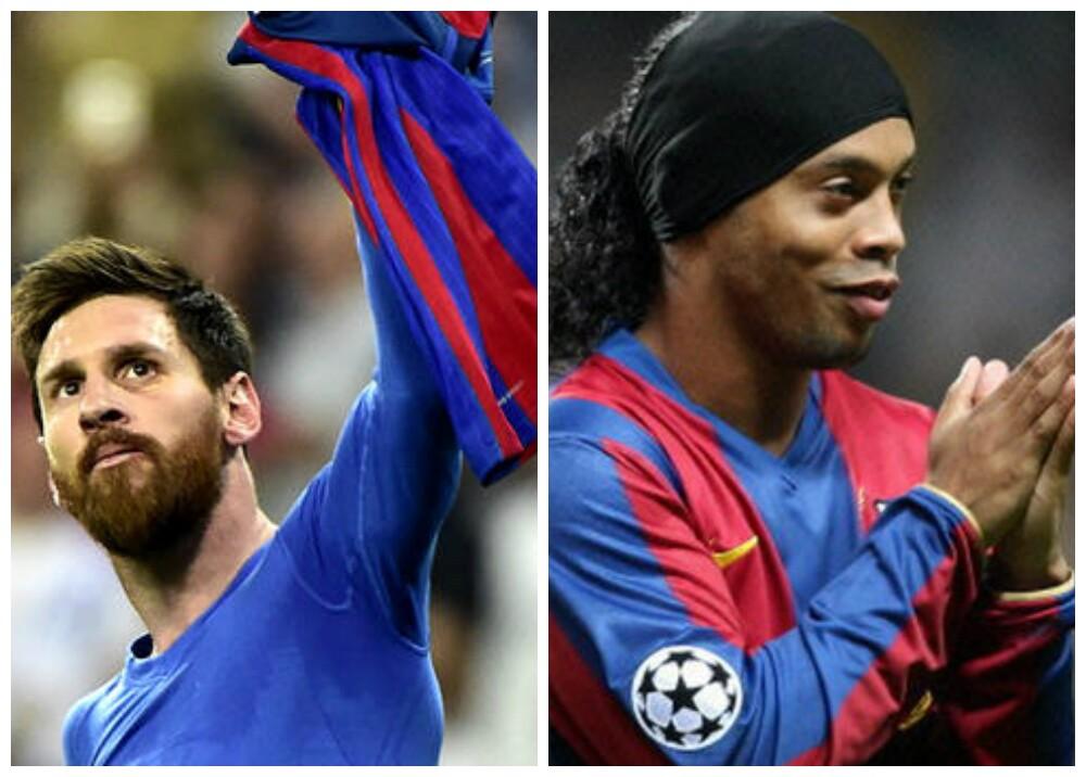 282776_BLU Radio. Messi - Ronaldinho / Foto: AFP