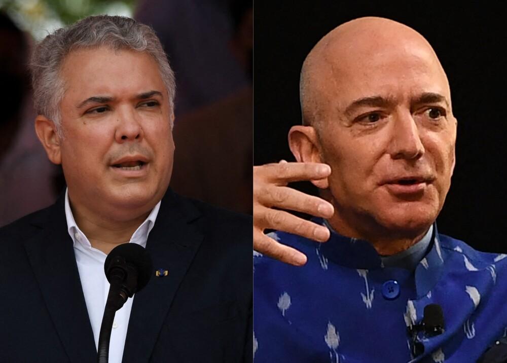 Duque y Jeff Bezos Foto AFP.jpg