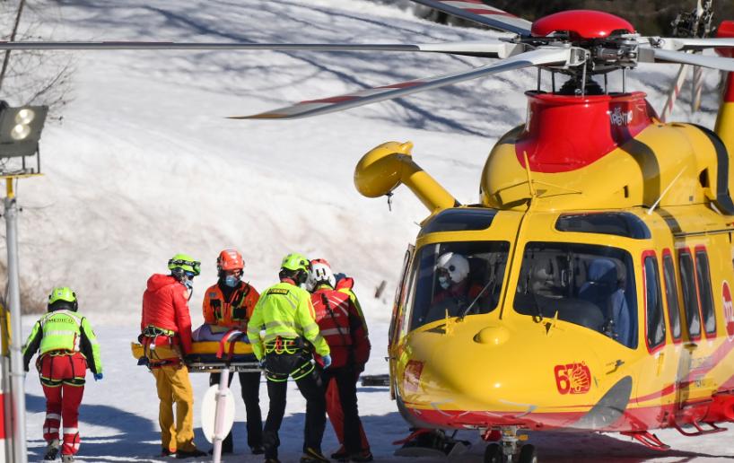 Kajsa Vickhoff Lie sufrió una terrible caída en el Mundial de esquí.