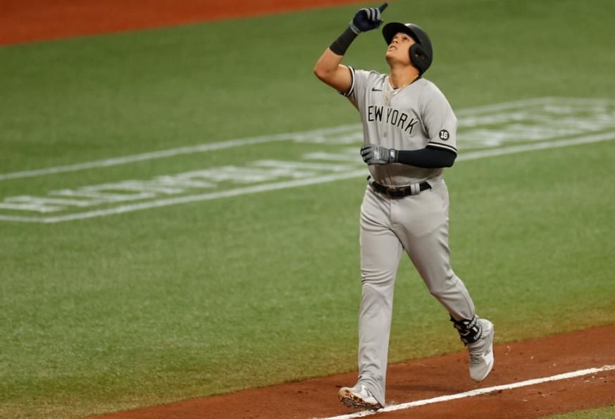 Gio Urshela fue la figura de los Yankees frente a los Rays.