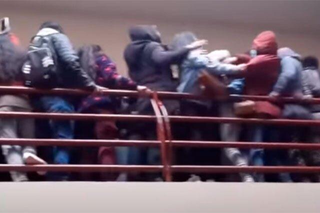 Caída de estudiantes en Bolivia