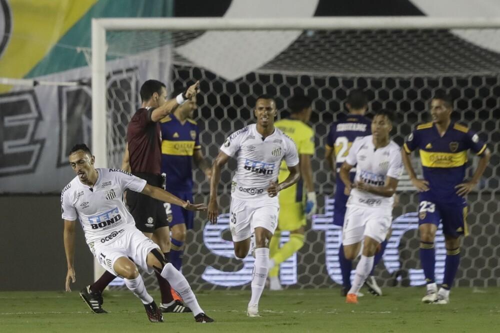 Santos vs. Boca. Foto: AFP