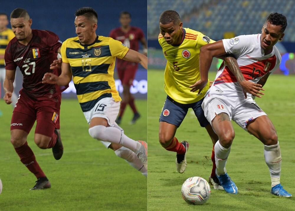 Venezuela vs Ecuador y Colombia vs Perú Foto AFP.jpg
