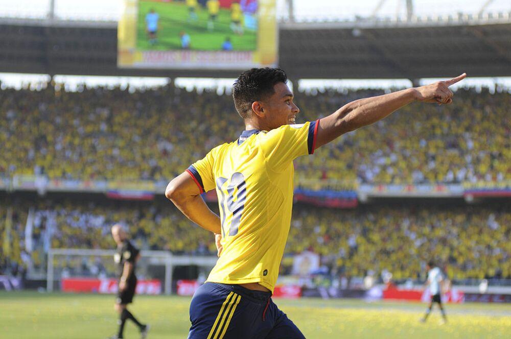 Teófilo Gutiérrez, Colombia vs Uruguay