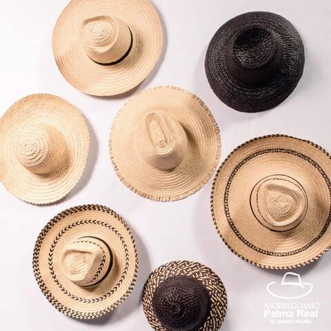 Sombrero de palma real