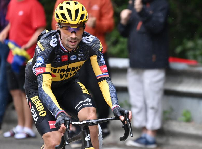 Primoz Roglic no salió en la etapa 9 del Tour de Francia.