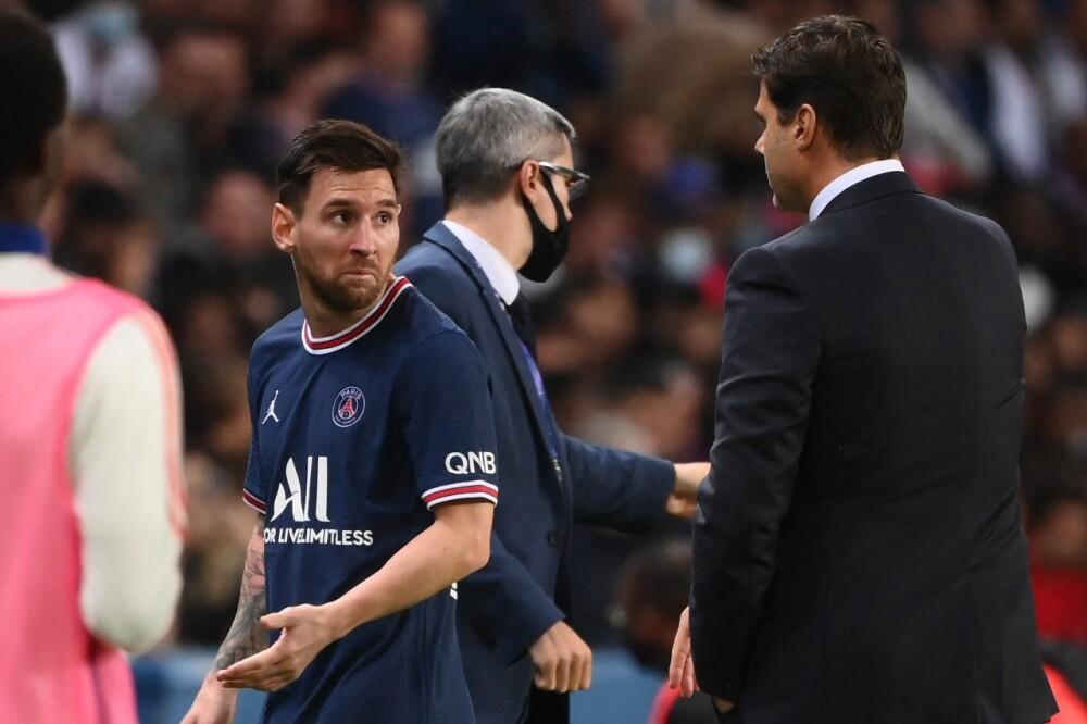 Lionel Messi y Mauricio Pochettino