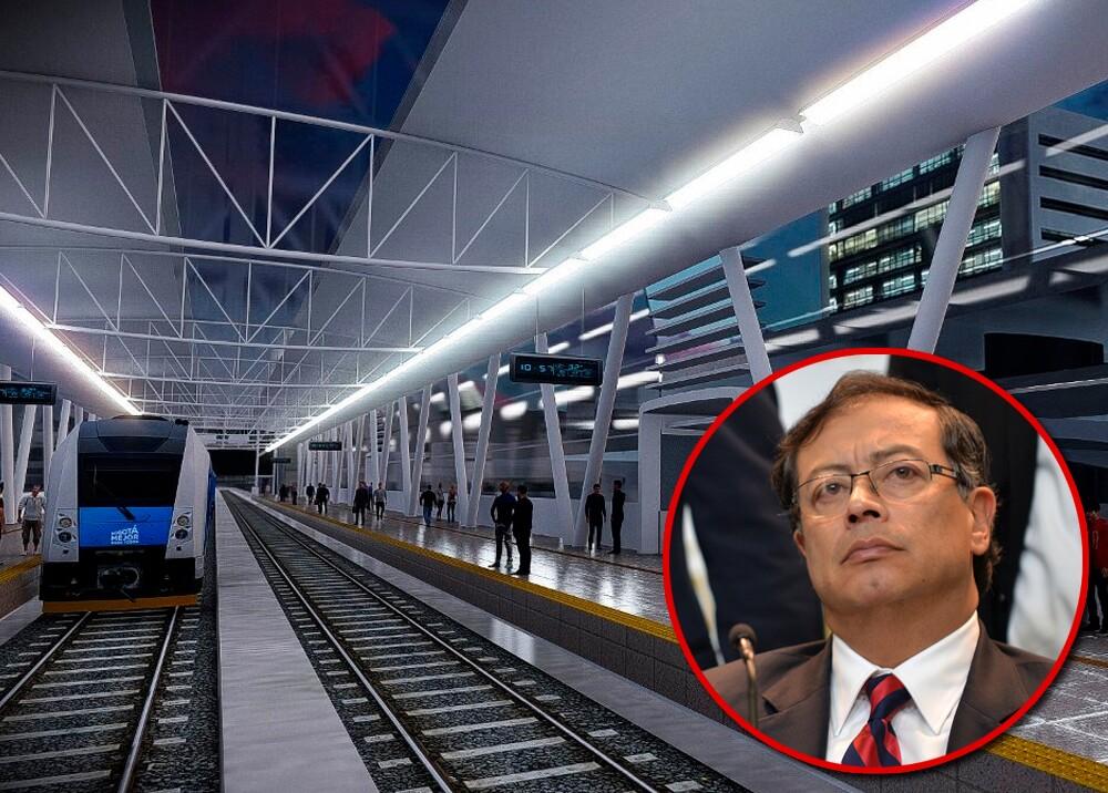 346084_Petro defiende su proyecto para el metro de Bogotá // Fotos: Metro de Bogotá, AFP