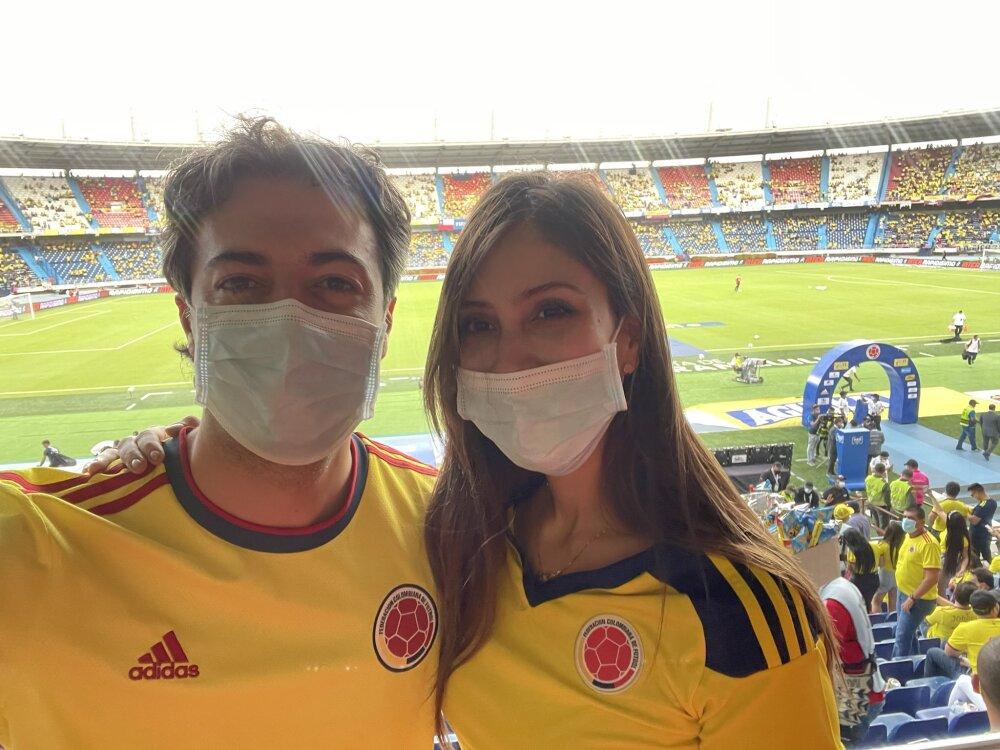 Daniel Quintero en partido Colombia-Chile