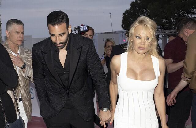 Adil Rami y Pamela Anderson