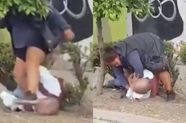 mujer golpeó a anciano en México.jpg