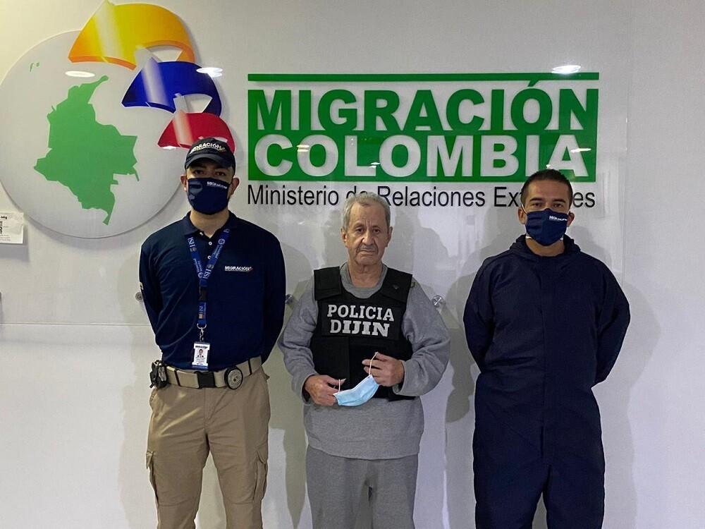 Hernán Giraldo, alias 'El Señor de la Sierra'. Foto: Migración Colombia