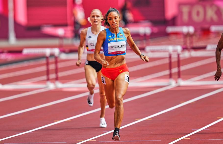 Melissa González terminó su participación en la semifinal de los 400 metros con vallas de los Juegos Olímpicos Tokio 2020