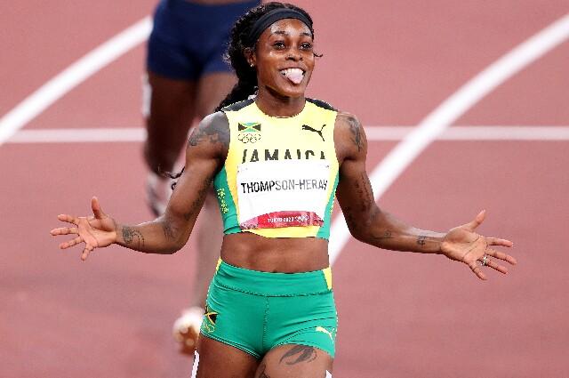 Elaine Thompson-Herah, en los Juegos Olímpicos de Tokio