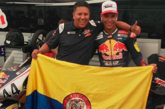 Nicolás Hernández piloto colombiano de motociclismo