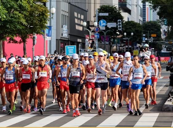 Esteban Soto fue puesto 14 en la marcha 20 km de los Juegos Olímpicos Tokio 2020.