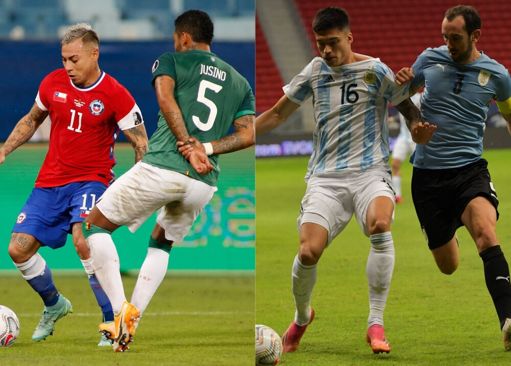 Chile vs Bolivia y Argentina vs Uruguay Foto AFP.jpg