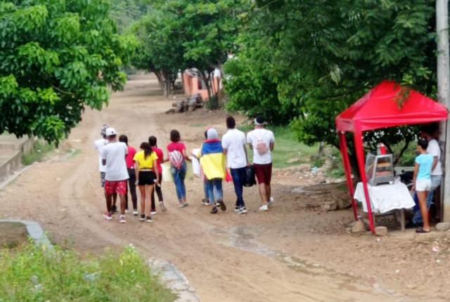 marcha de jóvenes en Canoas, Magdalena