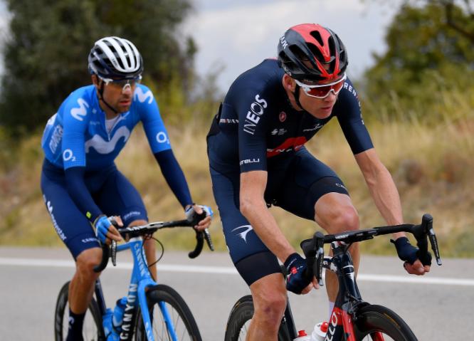 Chris Froome en la Vuelta a España 2020.