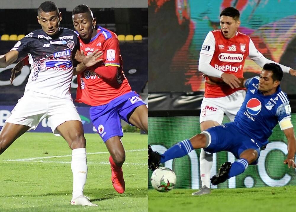 Junior vs Pasto y Santa Fe vs Millonarios Foto DIMAYOR.jpg