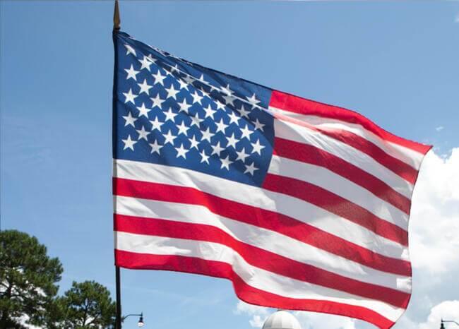 Bandera de Estados Unidos. Foto: AFP