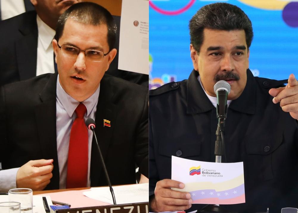 325898_BLU Radio // Jorge Arreaza / Nicolás Maduro // Fotos: AFP