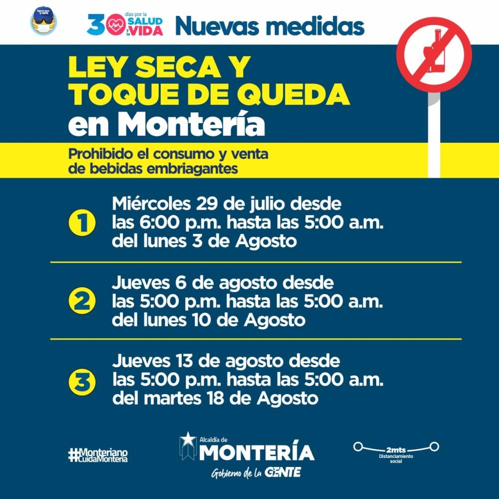 372478_Medida en Montería por coronavirus. Foto: Alcaldía de Monteria