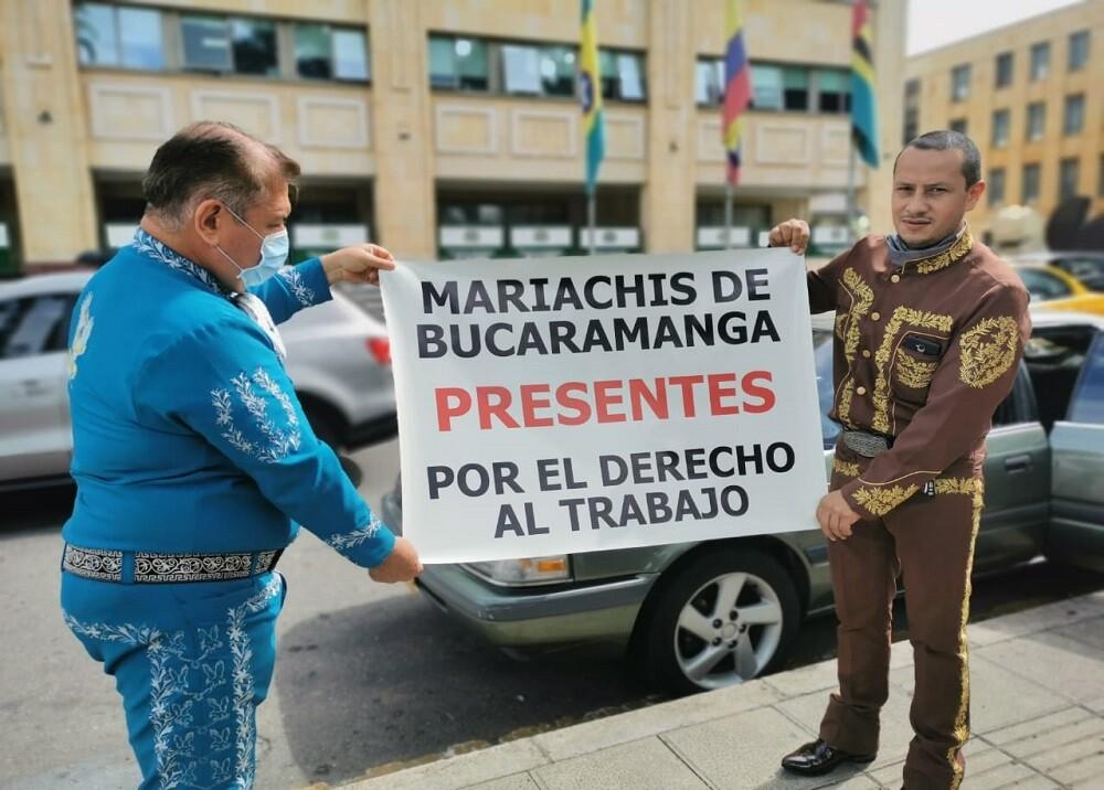 369556_BLU Radio. Protesta de mariachis en Bucaramanga / Foto: suministrada