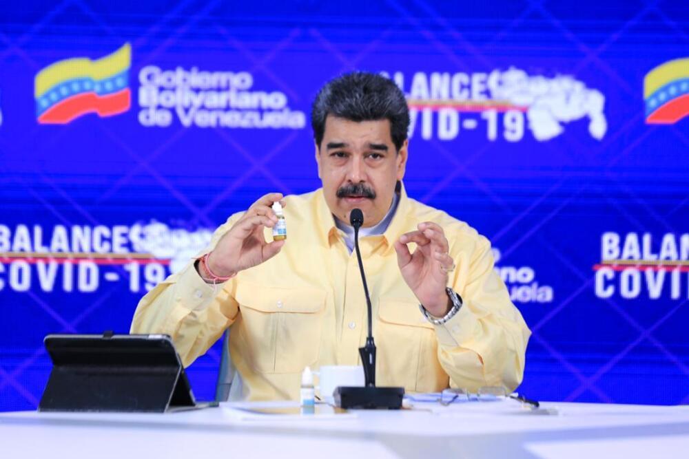 Nicolas Maduro medicamento Cartavivir - 25 de enero.jpg