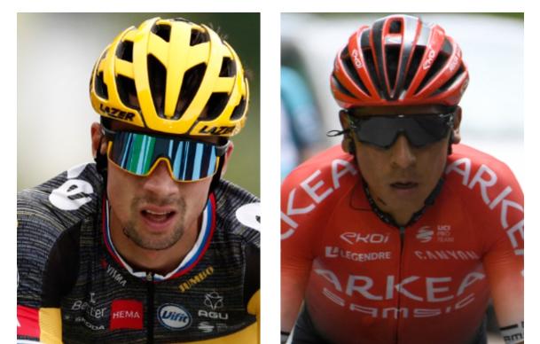 Primoz Roglic y Nairo Quintana salieron de la pelea por el título del Tour de Francia.