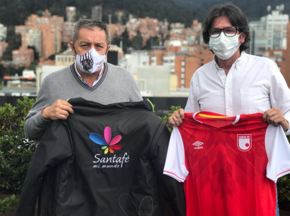 Eduardo Mendez y Andrés Hernández. Foto: Independiente Santa Fe