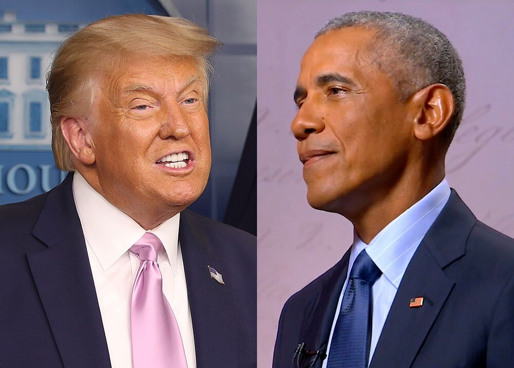 374841_Donald Trump y Barack Obama // Fotos: AFP