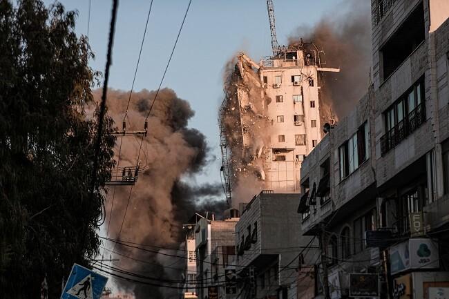 edificio bombardeo gaza