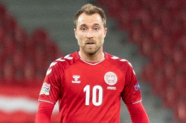 Christian Eriksen con la Selección de Dinamarca