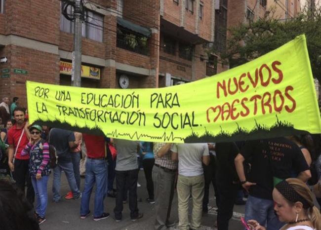355808_BLU Radio// Referencia manifestación de maestros. Foto: Cortesía
