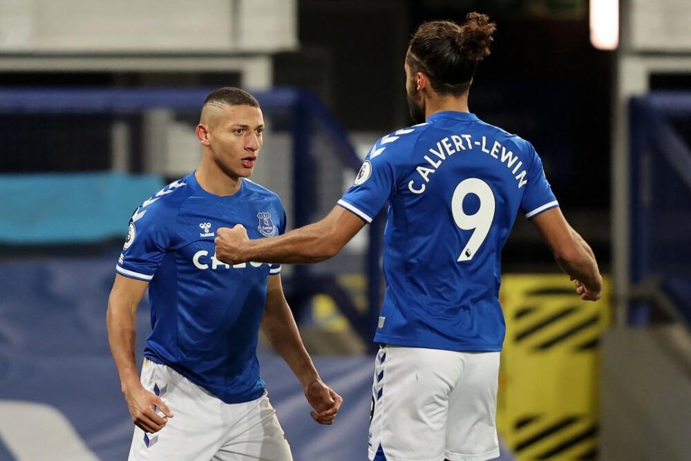 Richarlison y Calvert-Lewin. Foto: AFP