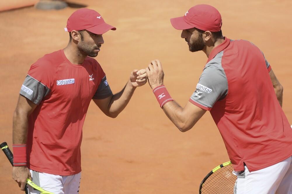 Juan Sebastián Cabal y Robert Farah. Foto: AFP