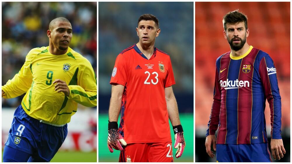Ronaldo y Gerard Piqué sobre Emiliano Martínez, en los penales contra Colombia
