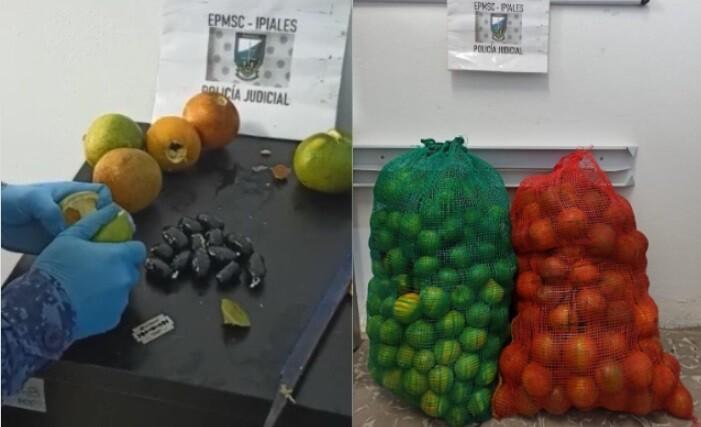naranjas llevaban droga para una cárcel