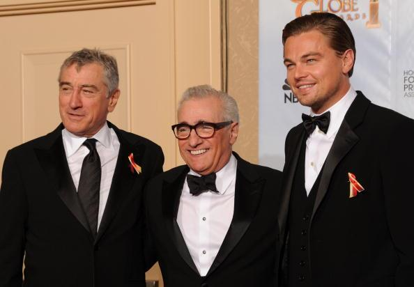 Robert De Niro, Martin Scorsese y Leonardo DiCaprio