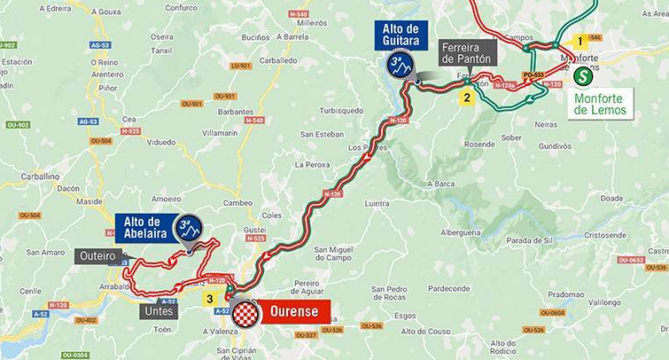 Así será la etapa 14 de la Vuelta a España 2020.