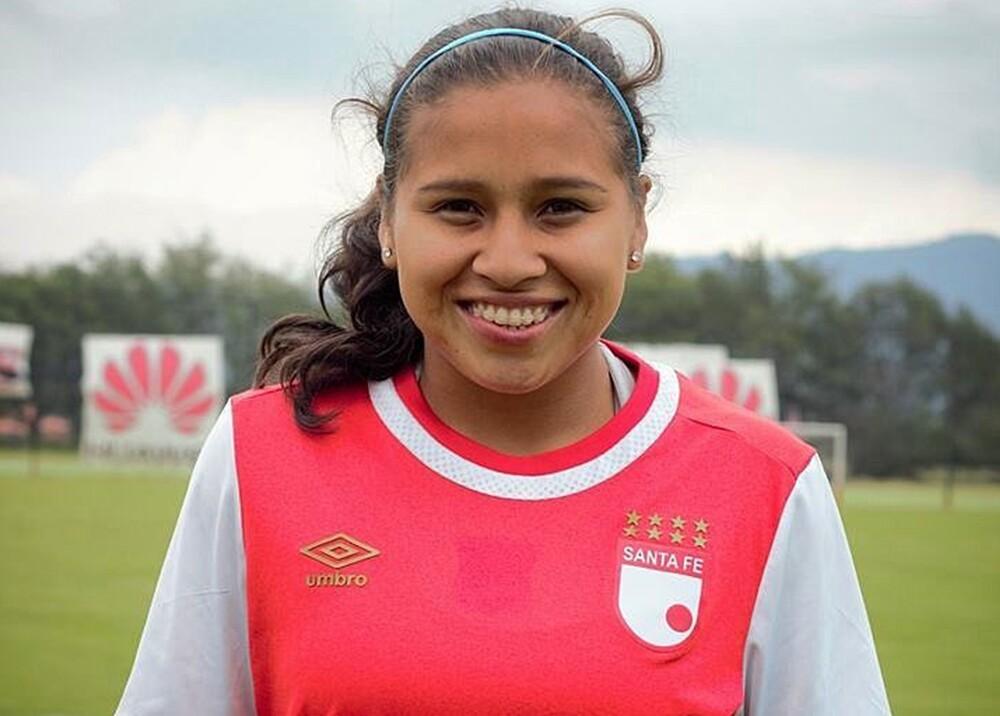 279296_Leicy Santos, jugadora de Santa Fe - Foto: Twitter @leicysantos10